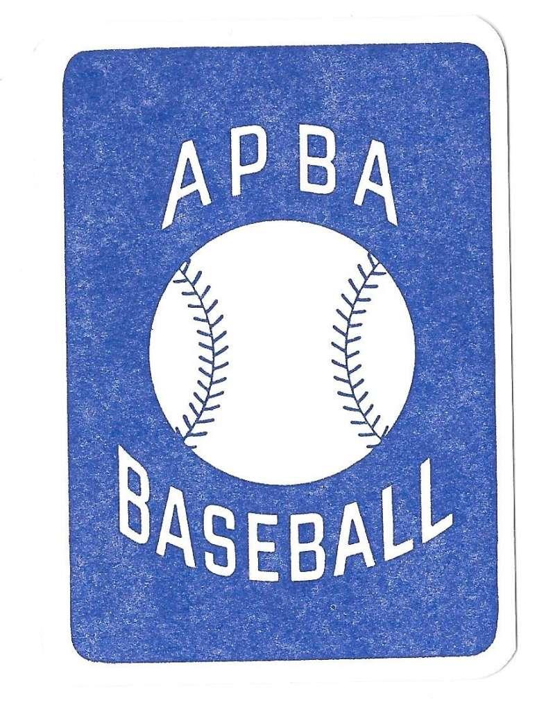 1954 APBA (Reprint) Season - CLEVELAND INDIANS Team Set (Issued I986)  ned pic
