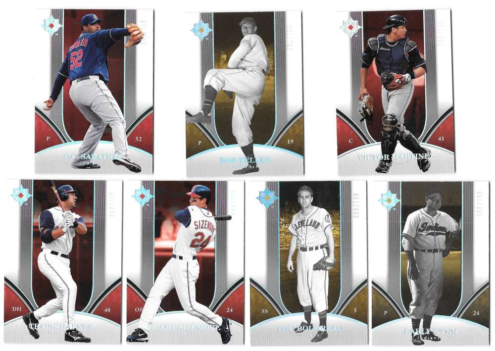 2006 Ultimate Collection (#ed/799) CLEVELAND INDIANS Team Set