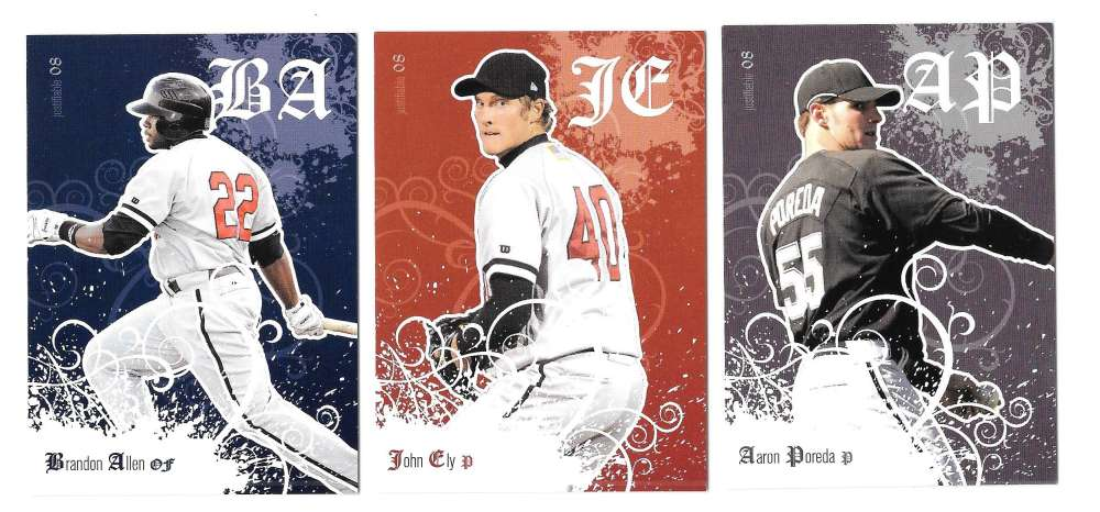 2008 Justifiable - CHICAGO WHITE SOX Team Set