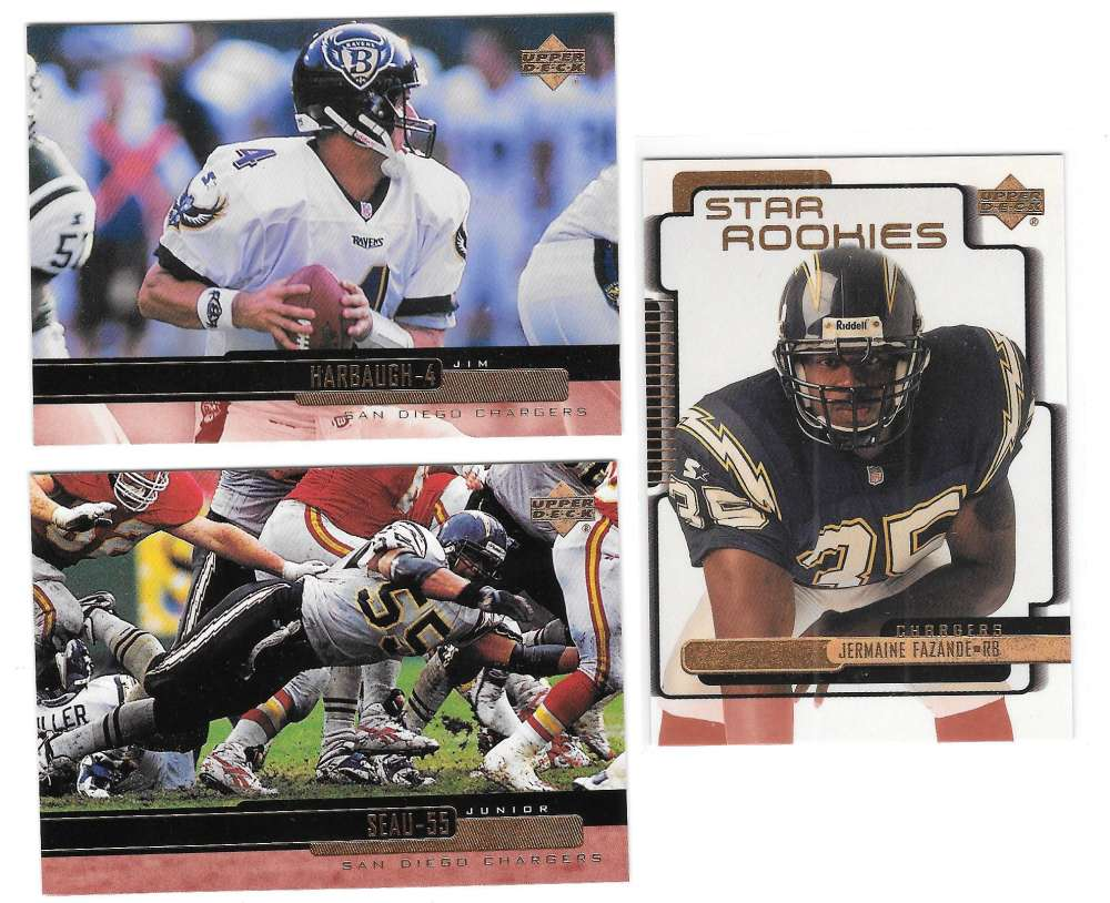 1999 Upper Deck (1-270) Football Team Set - SAN DIEGO CHARGERS