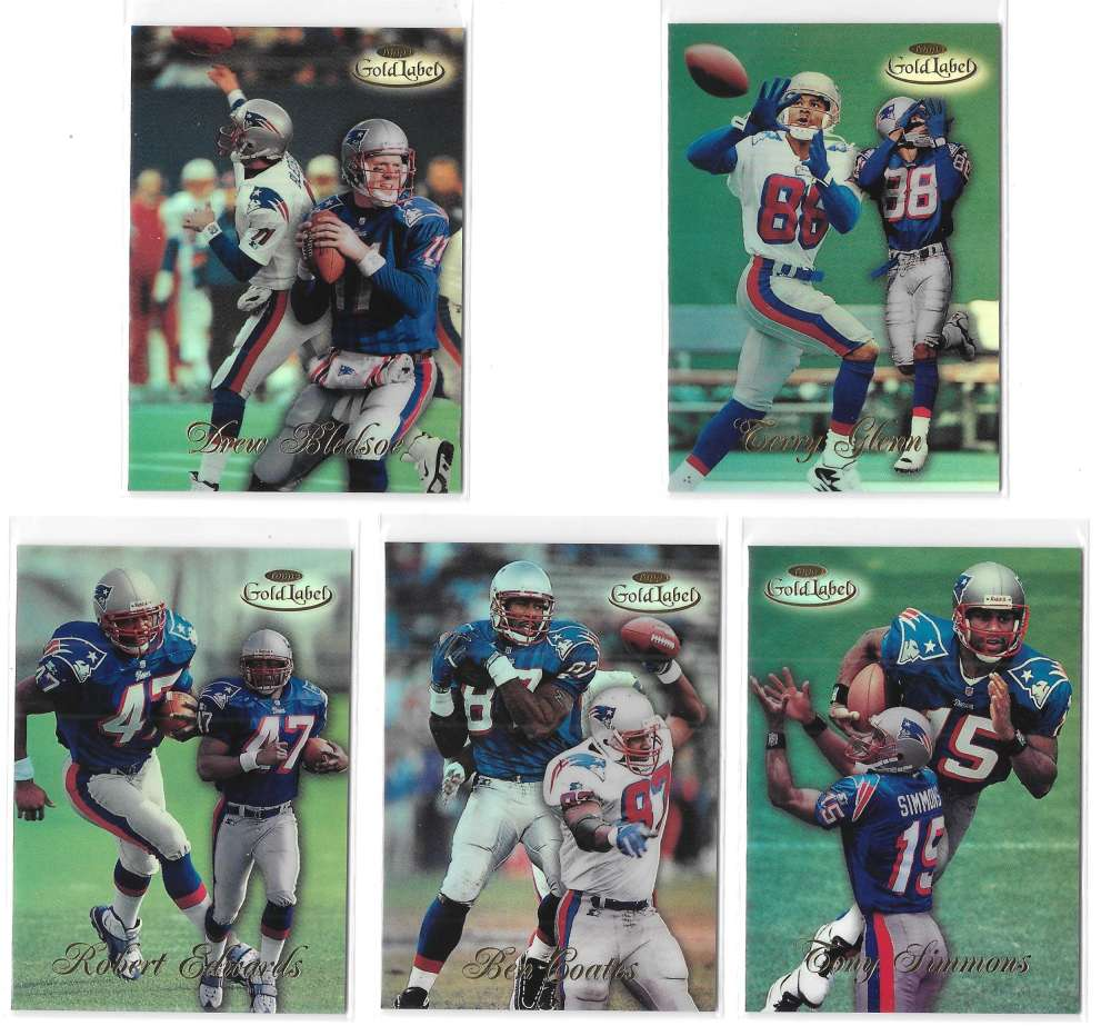 1998 Topps Gold Label Football - NEW ENGLAND PATRIOTS
