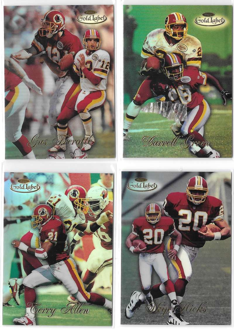 1998 Topps Gold Label Football - WASHINGTON REDSKINS