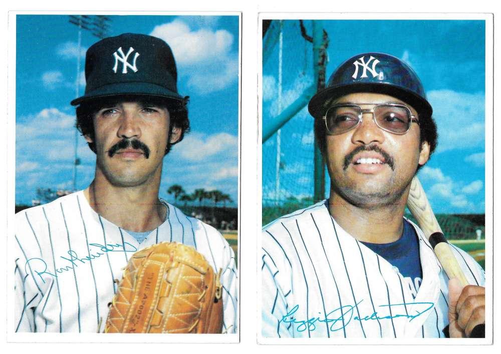 1980 Topps Super (5x7) Gray Backs - NEW YORK YANKEES Team Set