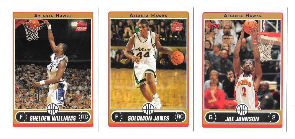 2006-07 Topps (1-265) Basketball Team Set - Atlanta Hawks