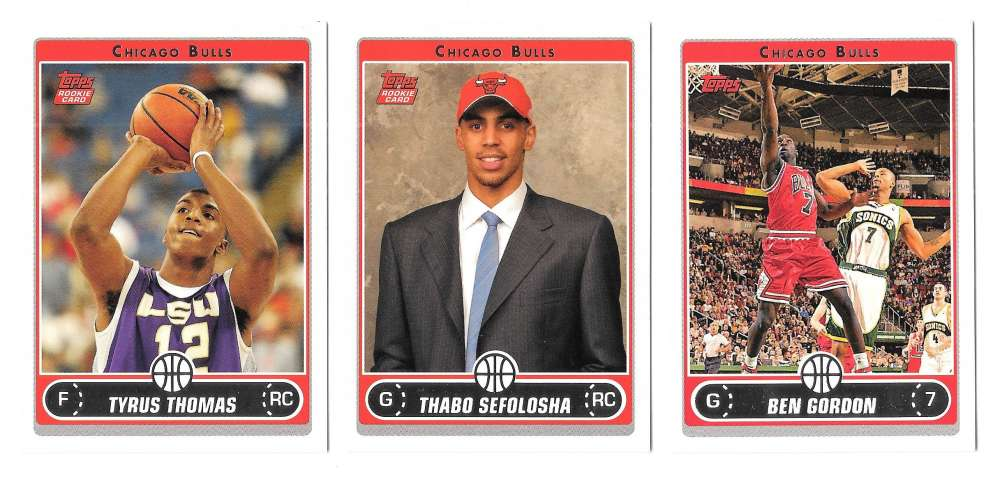 2006-07 Topps (1-265) Basketball Team Set - Chicago Bulls