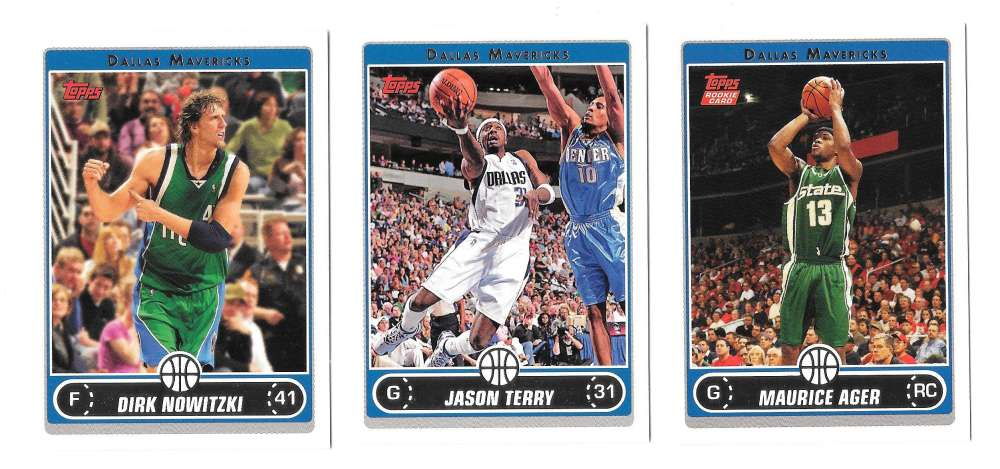 2006-07 Topps (1-265) Basketball Team Set - Dallas Mavericks