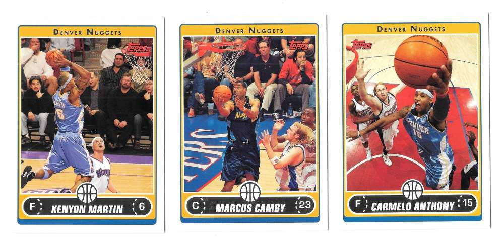 2006-07 Topps (1-265) Basketball Team Set - Denver Nuggets
