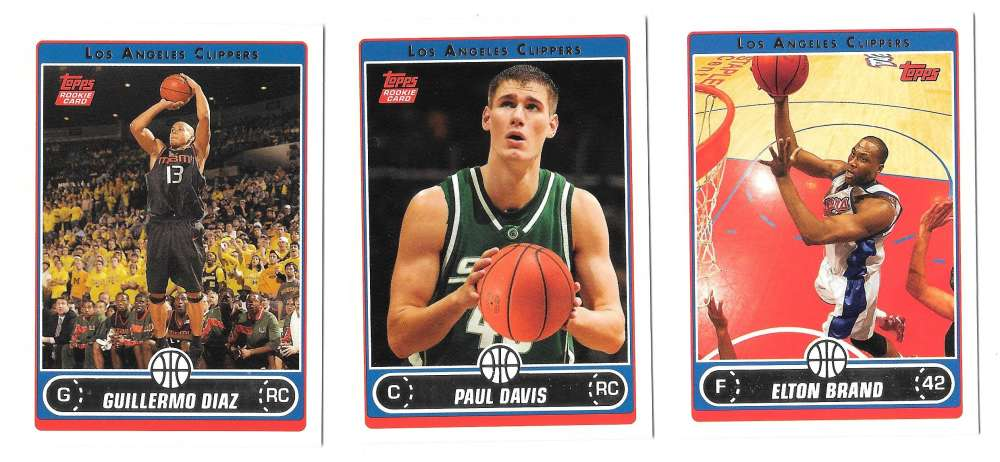 2006-07 Topps (1-265) Basketball Team Set - Los Angeles Clippers