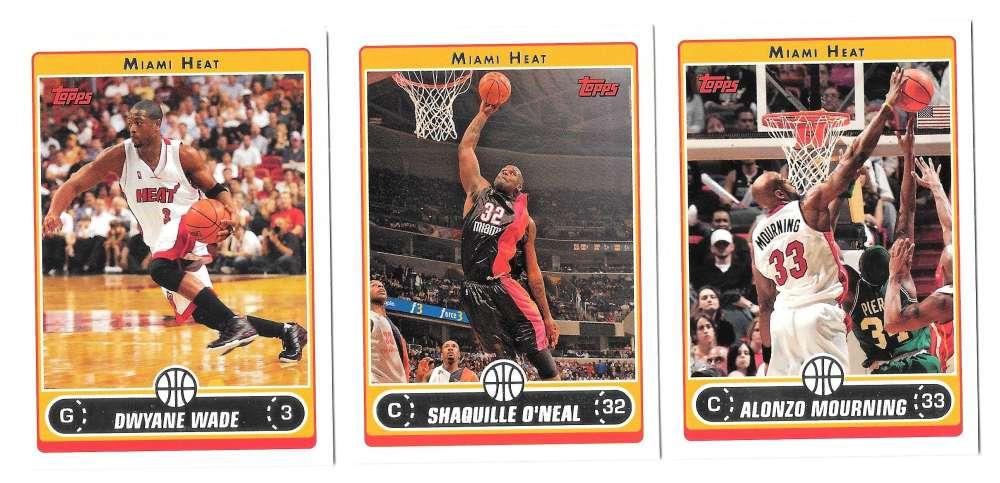 2006-07 Topps (1-265) Basketball Team Set - Miami Heat