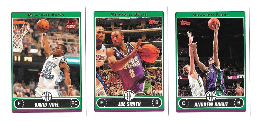 2006-07 Topps (1-265) Basketball Team Set - Milwaukee Bucks