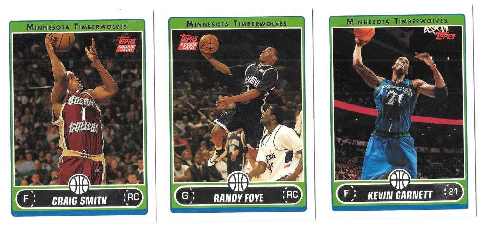 2006-07 Topps (1-265) Basketball Team Set - Minnesota Timberwolves