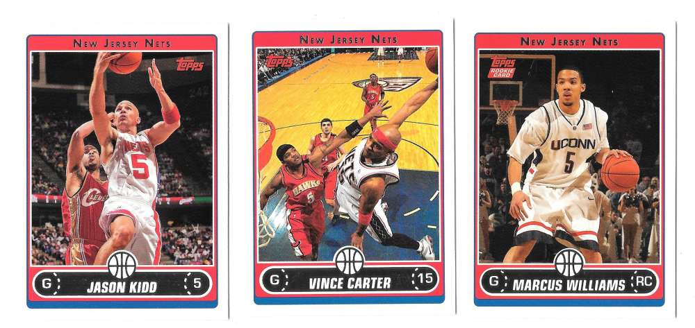 2006-07 Topps (1-265) Basketball Team Set - New Jersey Nets
