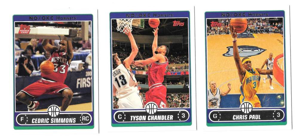 2006-07 Topps (1-265) Basketball Team Set - New Orleans Hornets
