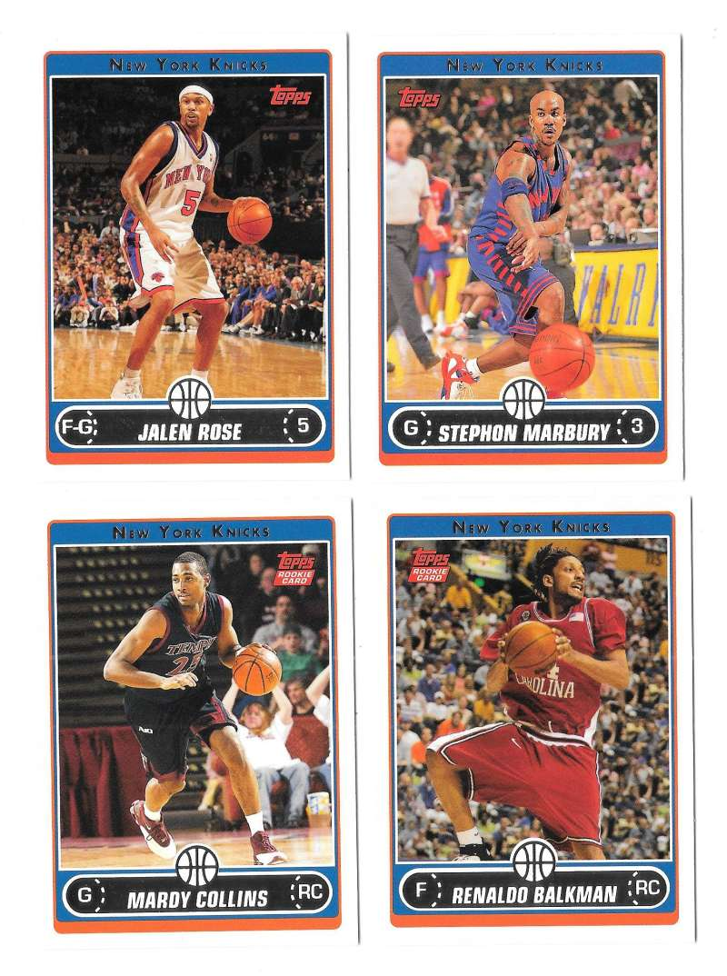 2006-07 Topps (1-265) Basketball Team Set - New York Knicks