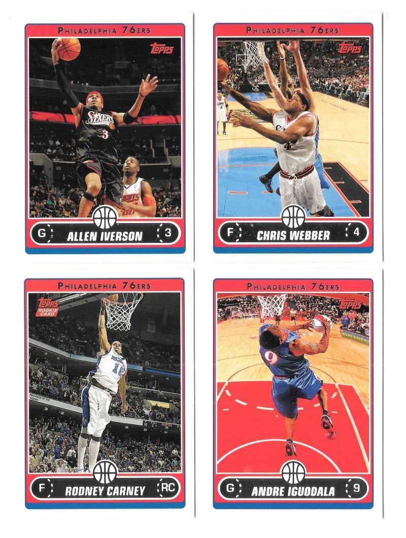 2006-07 Topps (1-265) Basketball Team Set - Philadelphia 76ers