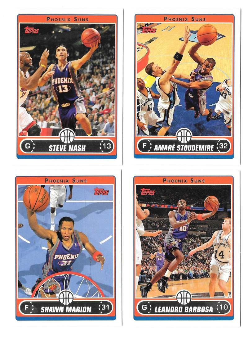 2006-07 Topps (1-265) Basketball Team Set - Phoenix Suns