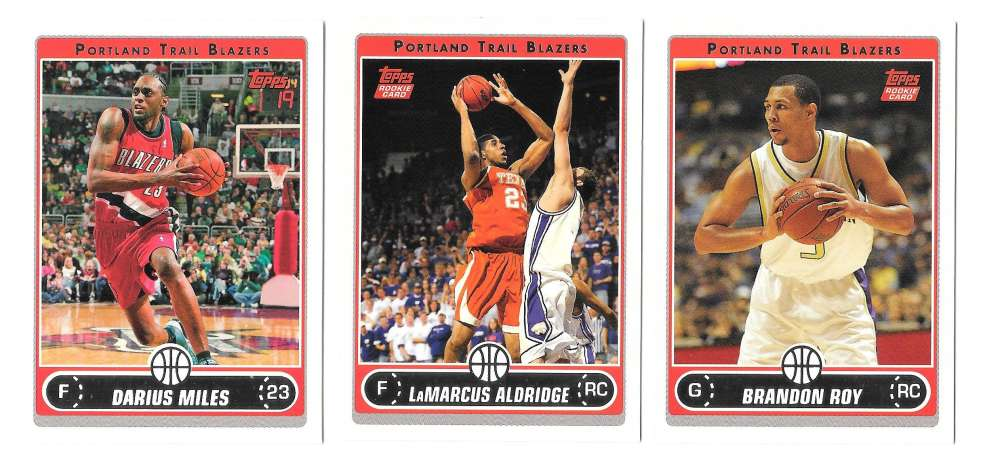 2006-07 Topps (1-265) Basketball Team Set - Portland Trail Blazers