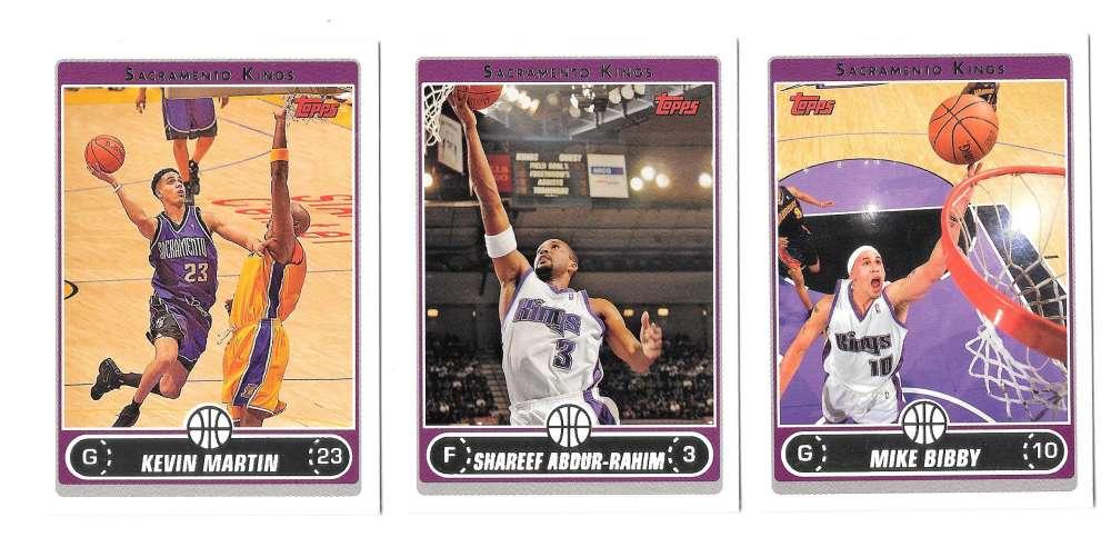2006-07 Topps (1-265) Basketball Team Set - Sacramento Kings