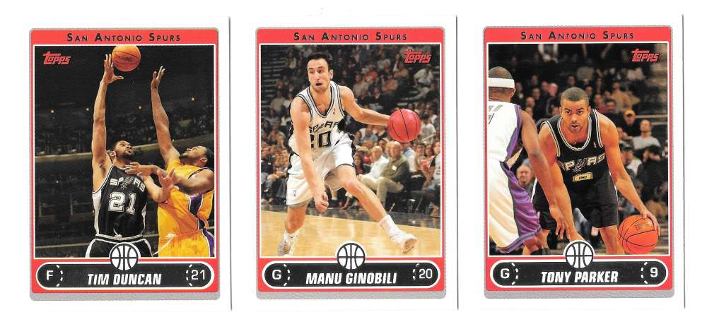 2006-07 Topps (1-265) Basketball Team Set - San Antonio Spurs