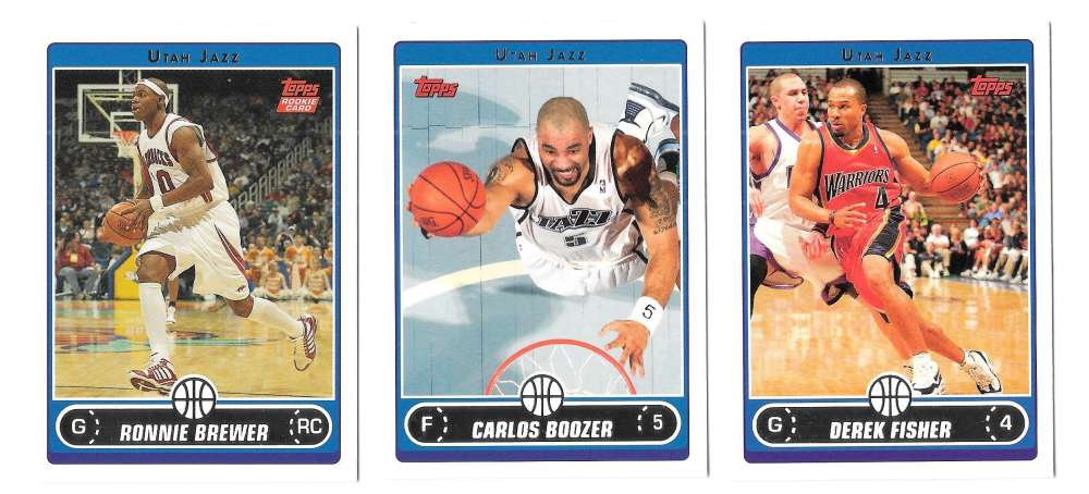 2006-07 Topps (1-265) Basketball Team Set - Utah Jazz