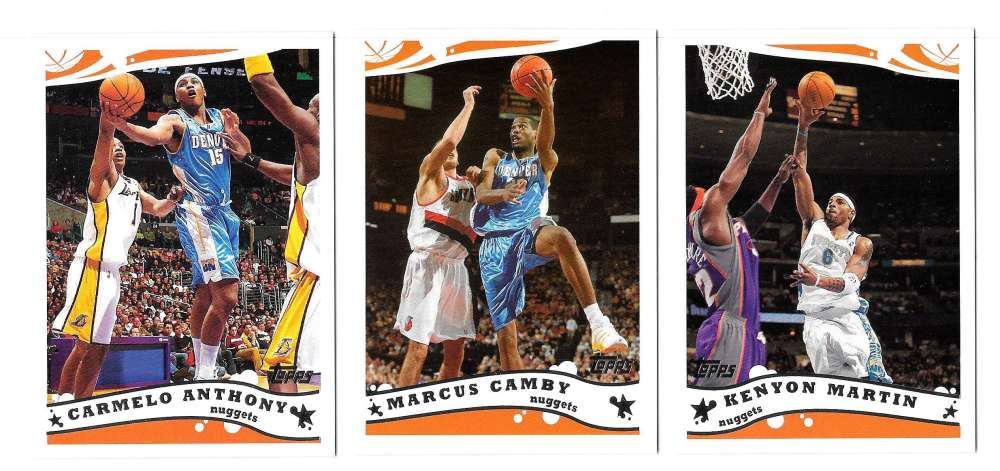 2005-06 Topps Basketball Team Set - Denver Nuggets
