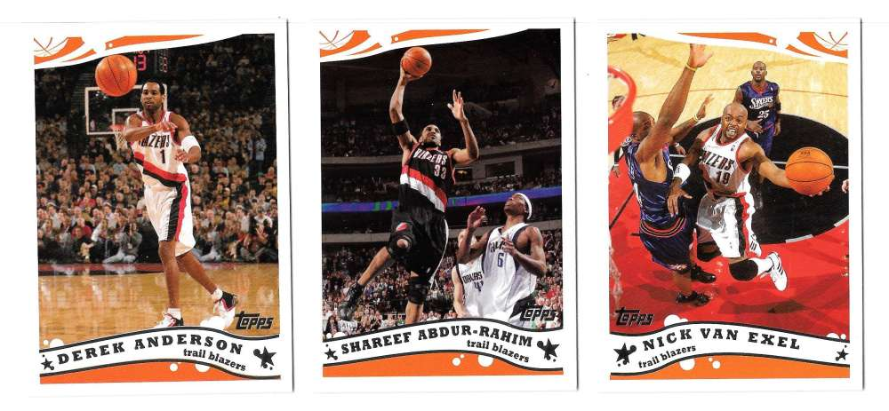 2005-06 Topps Basketball Team Set - Portland Trail Blazers