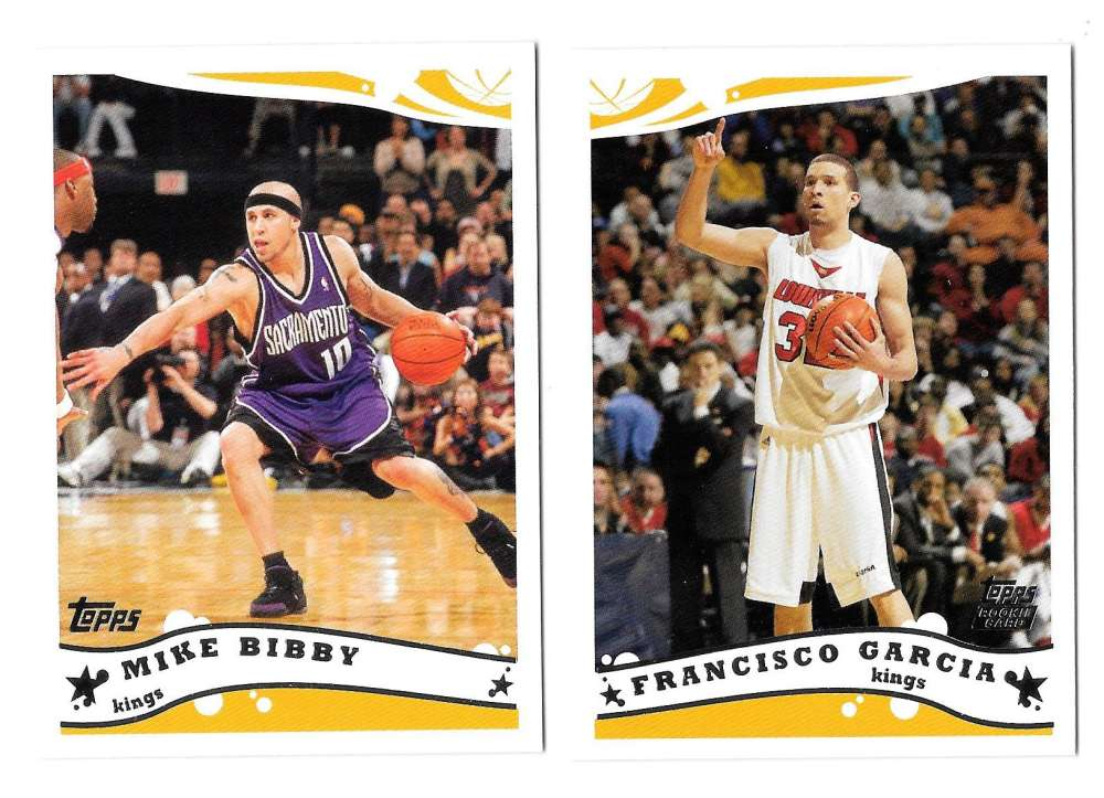 2005-06 Topps Basketball Team Set - Sacramento Kings