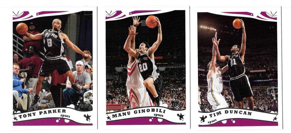 2005-06 Topps Basketball Team Set - San Antonio Spurs