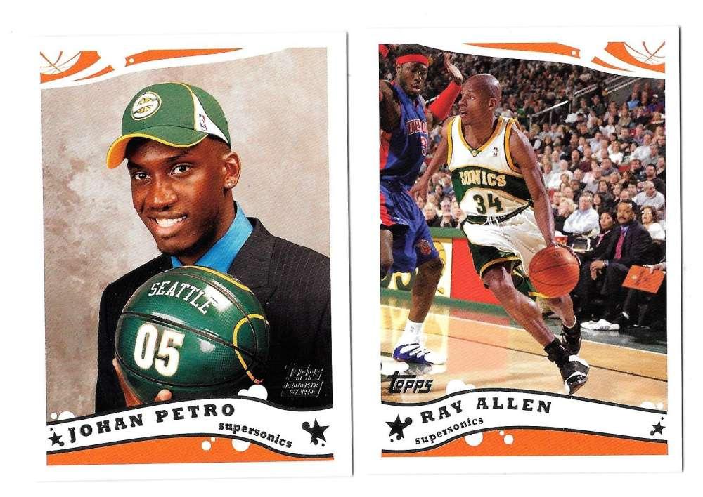 2005-06 Topps Basketball Team Set - Seattle Supersonics
