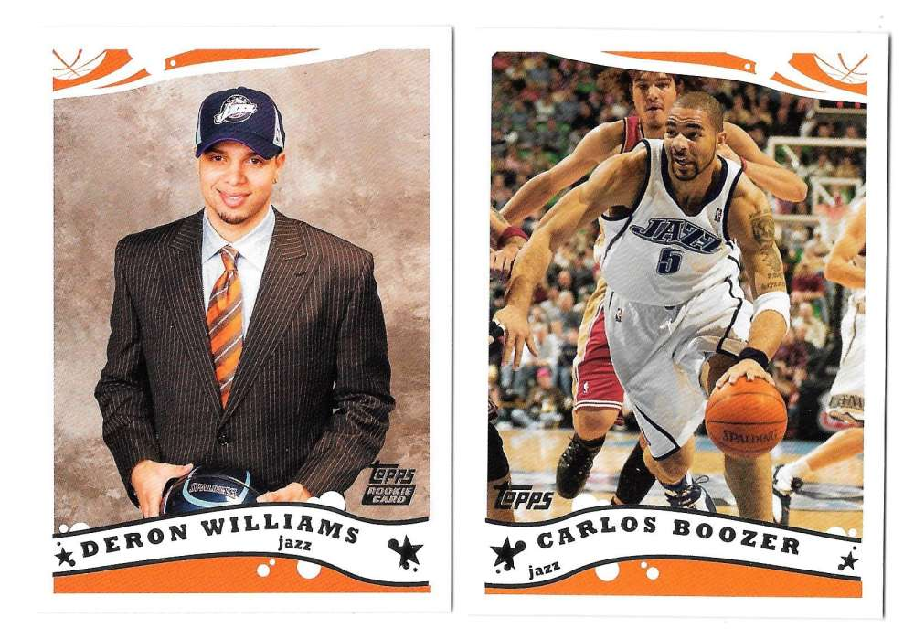 2005-06 Topps Basketball Team Set - Utah Jazz
