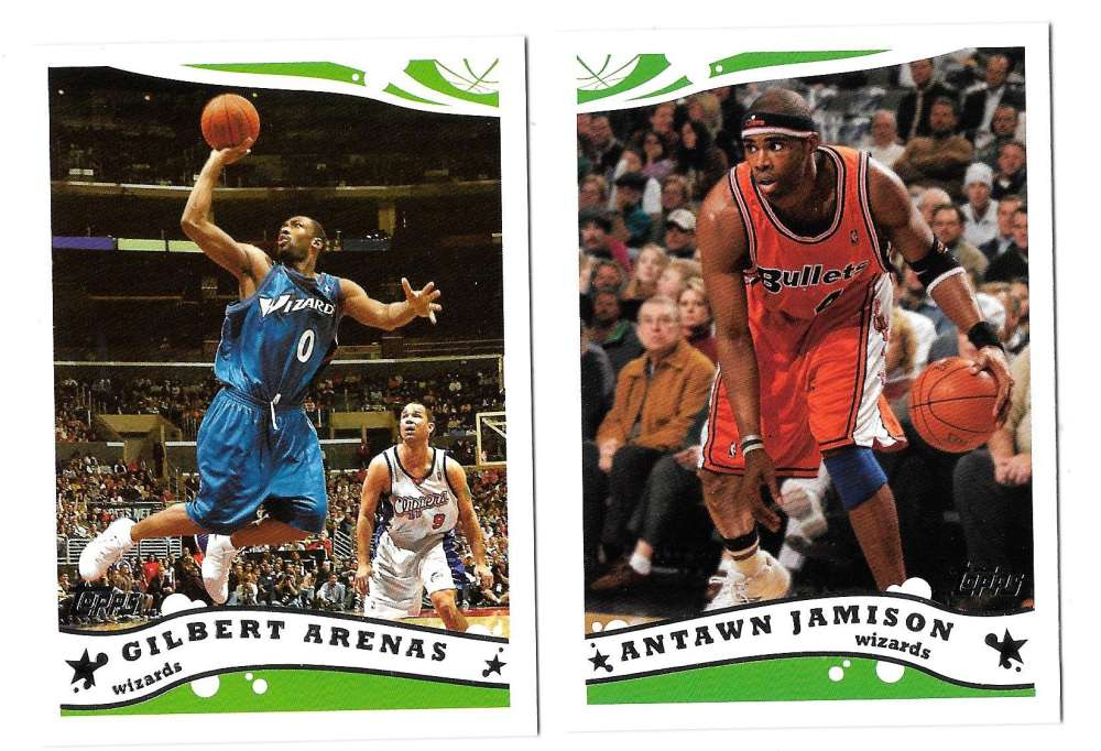 2005-06 Topps Basketball Team Set - Washington Wizards