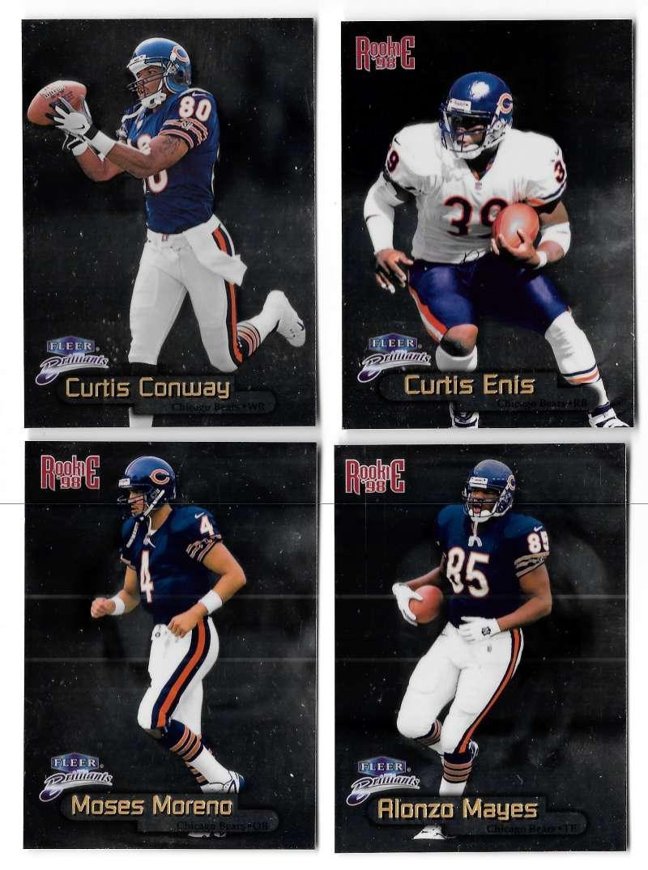 1998 Fleer Brilliants (1-150) Football - CHICAGO BEARS