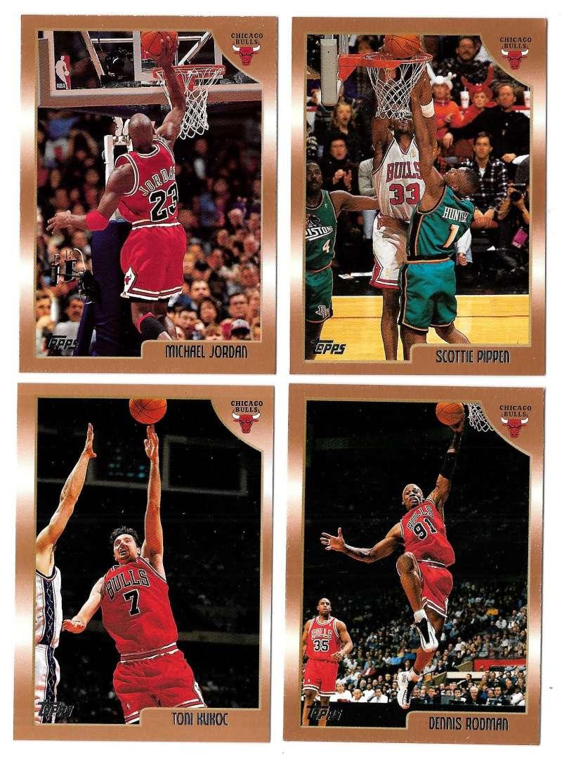 1998-99 Topps Basketball Team Set - Chicago Bulls