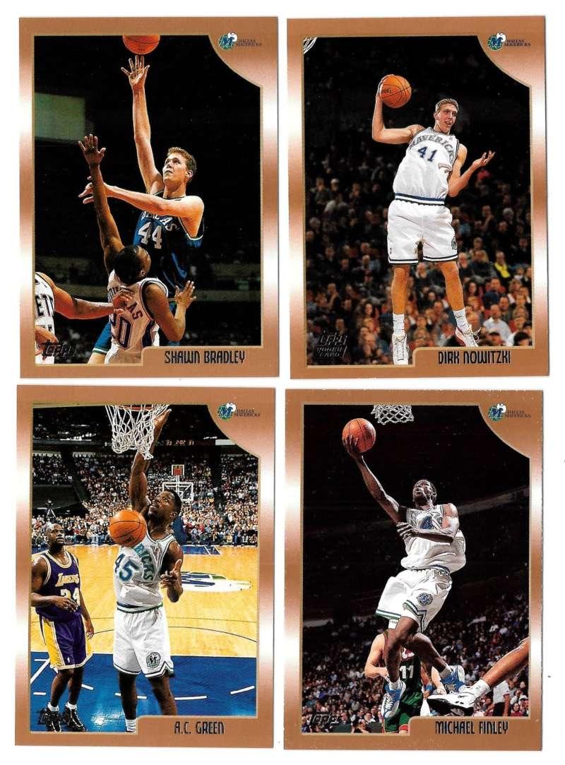 1998-99 Topps Basketball Team Set - Dallas Mavericks