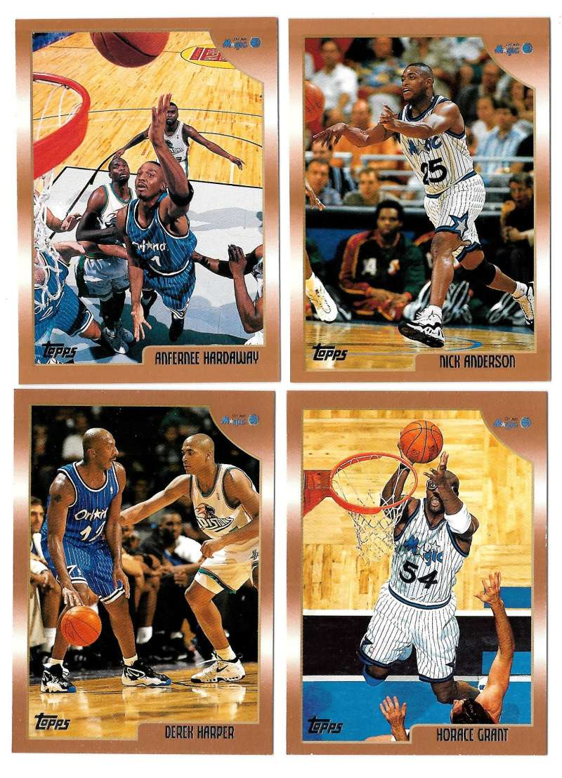 1998-99 Topps Basketball Team Set - Orlando Magic