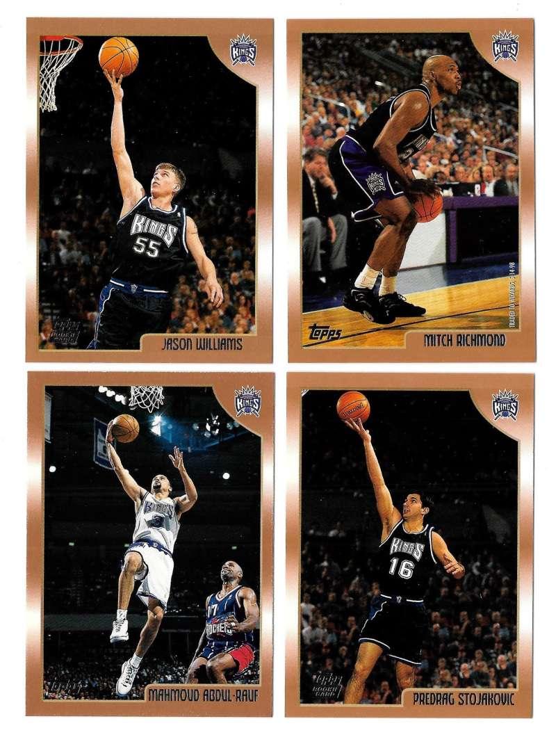 1998-99 Topps Basketball Team Set - Sacramento Kings