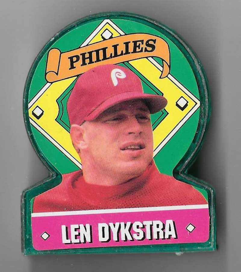 1991 Topps Stand-Ups (Color, Candy) - PHILADELPHIA PHILLIES  Len Dykstra