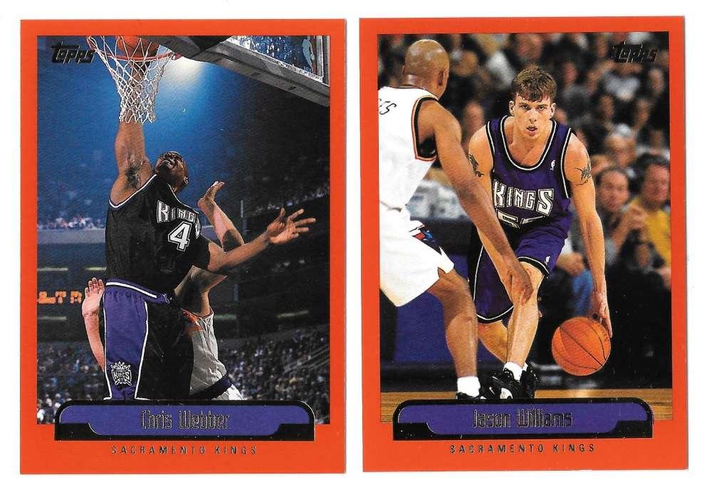 1999-00 Topps Basketball Team Set - Sacramento Kings