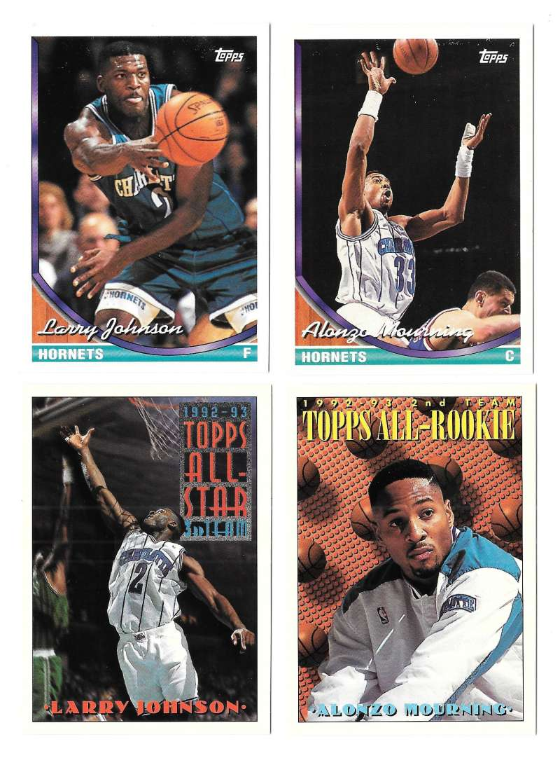 1993-94 Topps Basketball Team Set - Charlotte Hornets