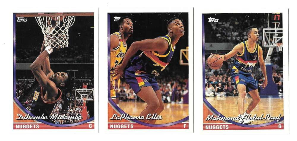 1993-94 Topps Basketball Team Set - Denver Nuggets