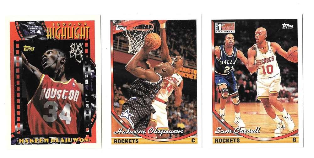 1993-94 Topps Basketball Team Set - Houston Rockets