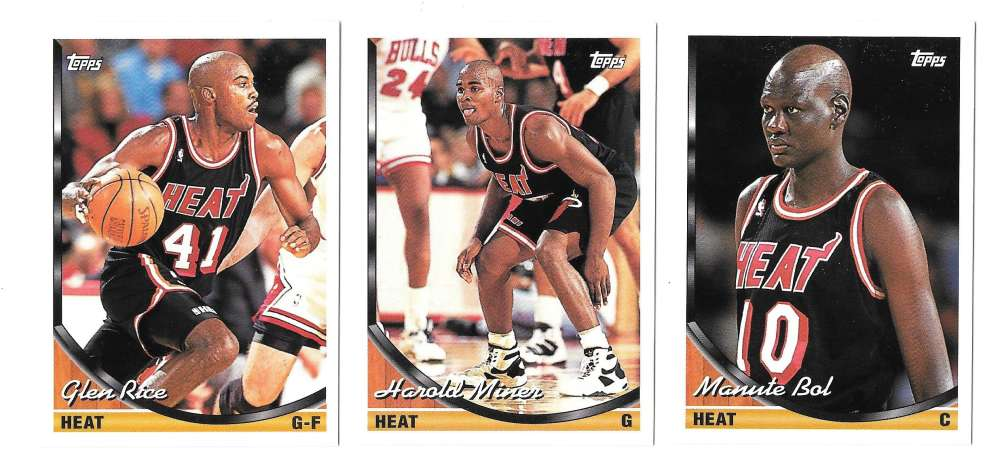 1993-94 Topps Basketball Team Set - Miami Heat