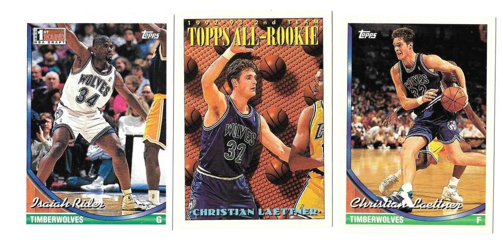 1993-94 Topps Basketball Team Set - Minnesota Timberwolves