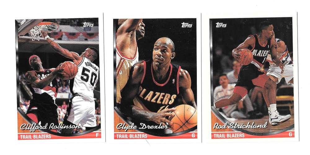 1993-94 Topps Basketball Team Set - Portland Trail Blazers