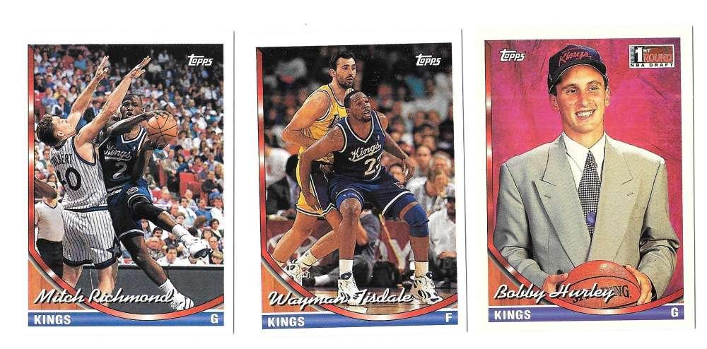 1993-94 Topps Basketball Team Set - Sacramento Kings