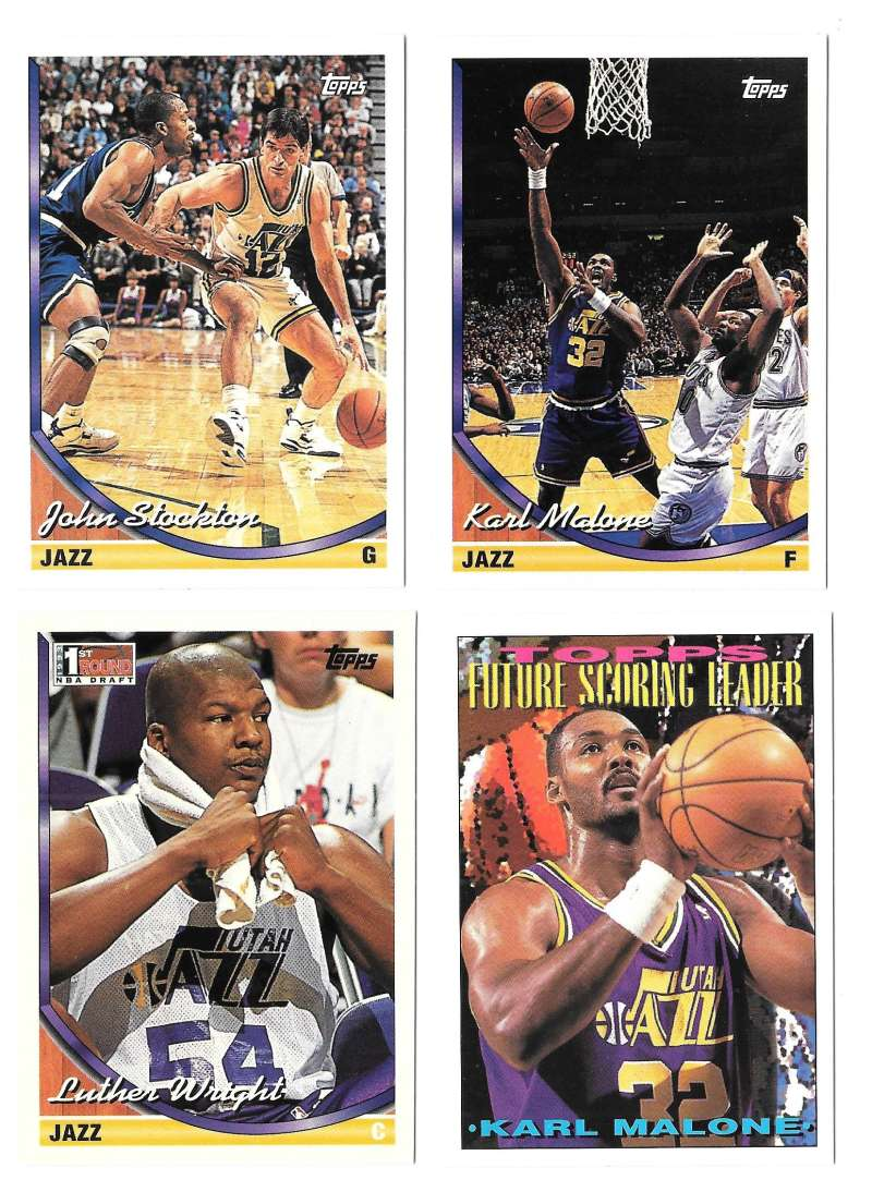 1993-94 Topps Basketball Team Set - Utah Jazz
