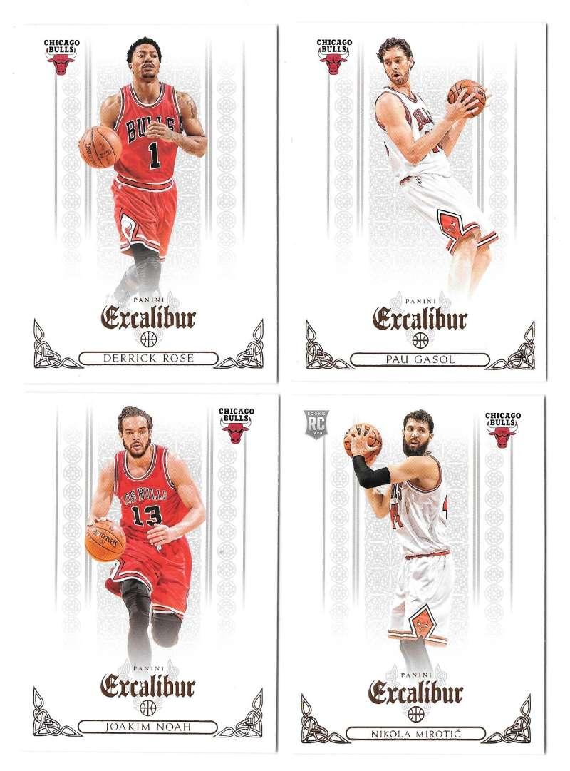 2014-15 Panini Excalibur (1-200) Basketball Team Set - Chicago Bulls