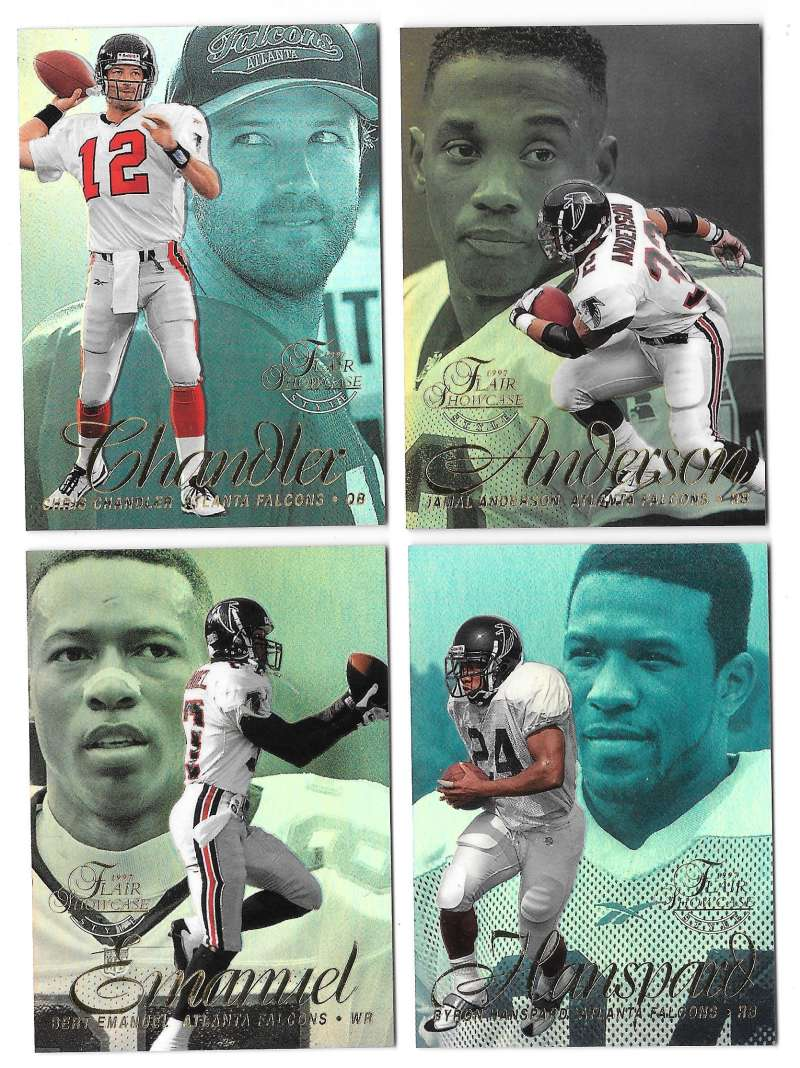 1997 Flair Showcase Row 2 Football - ATLANTA FALCONS