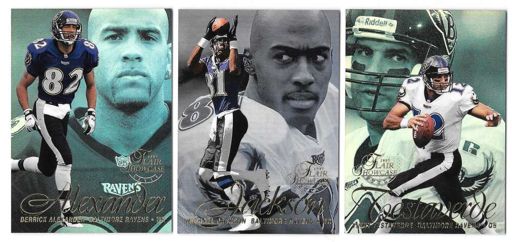 1997 Flair Showcase Row 2 Football - BALTIMORE RAVENS