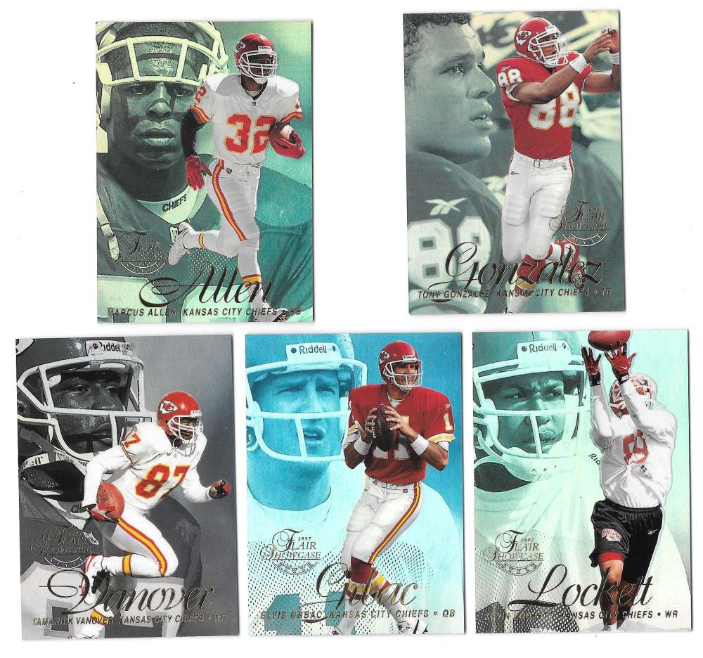 1997 Flair Showcase Row 2 Football - KANSAS CITY CHIEFS